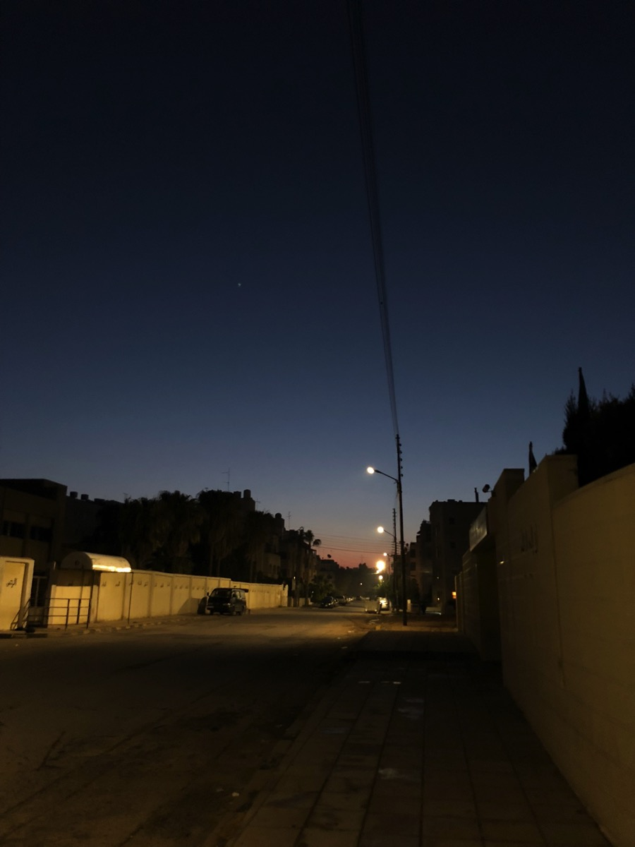 夜明けの散歩